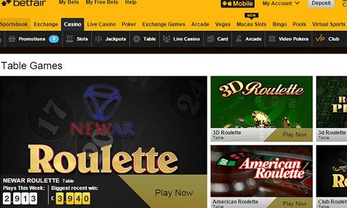 A Peek at Betfair Online Casino for Players